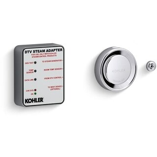 Kohler K-5548-K1 DTV+ Steam Adapter Kit with Temperature Sensor, Adapter, and Steam Head with Aromatherapy Reservoir