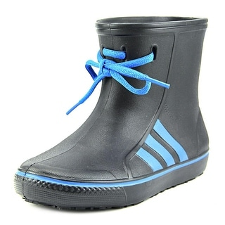 Adidas Originalsrain K Youth Round Toe Synthetic Black Rain Boot