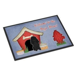 Carolines Treasures BB2825JMAT Dog House Collection Poodle Black Indoor or Outdoor Mat 24 x 0.25 x 36 in.