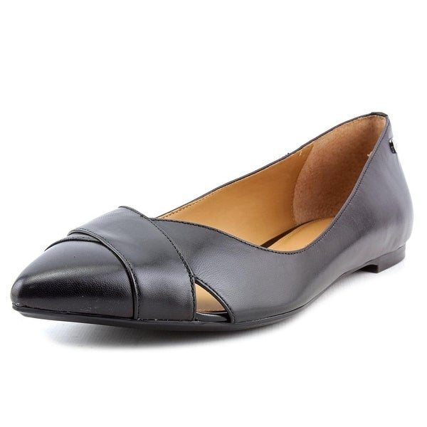 Calvin Klein Gailia Women Pointed Toe Leather Black Flats
