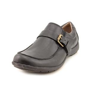 Easy Spirit Zoila Women Round Toe Leather Black Loafer