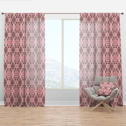 Designart 'Abstract Geometric Tiles Bohemian' Bohemian & Eclectic Curtain Panel
