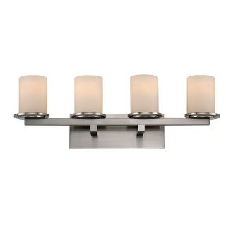 Trans Globe Lighting 20364 Downtown 4 Light Bathroom Vanity Light with Cream Shade