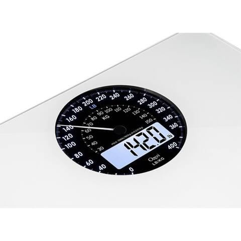Ozeri Rev Digital Bathroom Scale With Electromechanical Weight Dial