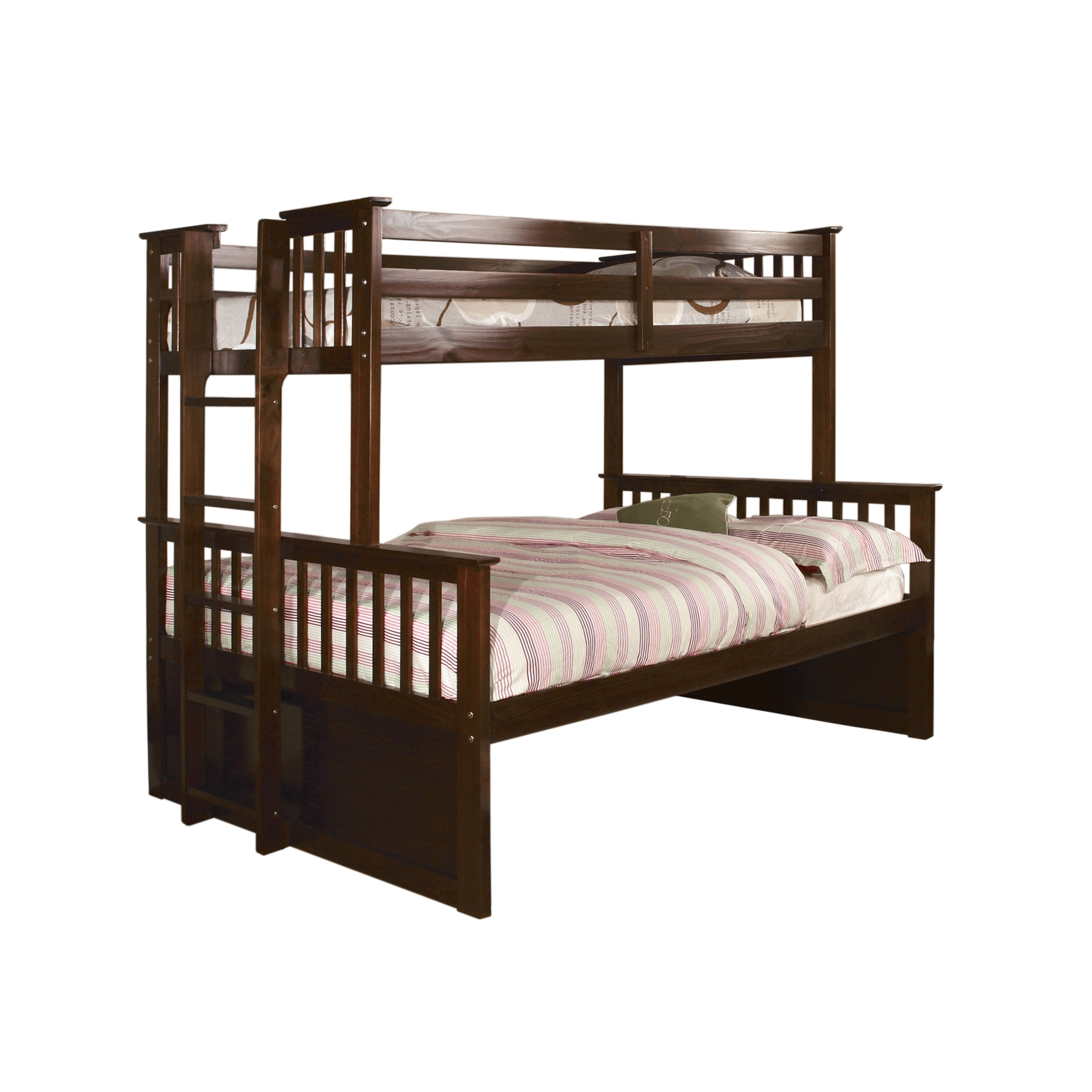 Furniture Of America Rola Mission Twin Xl Queen Bunk Bed On Sale Overstock 10302777