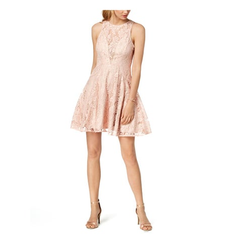 Xscape Womens Cocktail Dress Lace Fit & Flare