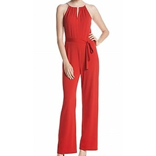 Michael Kors NEW Red Chain Halter Women's Size Large L Jumpsuit