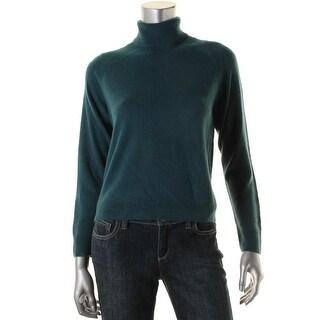 Karen Scott Womens Petites Luxsoft Knit Turtleneck Sweater