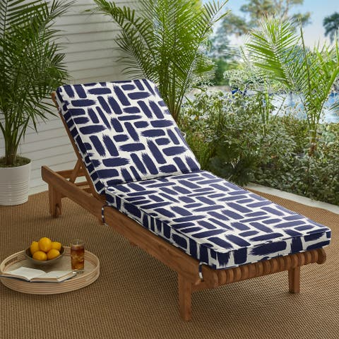 Blue Graphic Indoor/ Outdoor Hinged Cushion