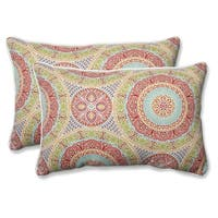 """Set of 2 24.5"""" Delancey Jubilee Over-Sized Rectangular Throw Pillow - Yellow"""