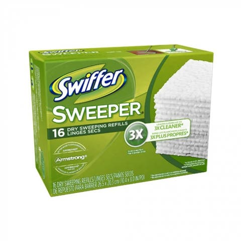 Swiffer 31821 Sweeper Disposable Dry Cloth Sweeping Refills, 16-Count
