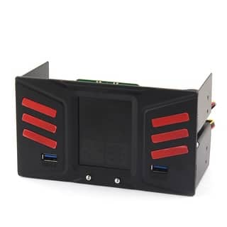 Unique Bargains 3 LCD Display Front Panel Fan Speed Control 2xUSB 3.0 PC Temperature Controller https://ak1.ostkcdn.com/images/products/is/images/direct/6e7a2abf4d6f416ff67b6c618cbe4abe443c2a55/Unique-Bargains-3-LCD-Display-Front-Panel-Fan-Speed-Control-2xUSB-3.0-PC-Temperature-Controller.jpg?impolicy=medium