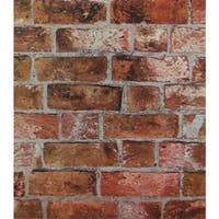 York Wallcoverings HE1046 Brick Wallpaper - copper red/black/brown/cement gray