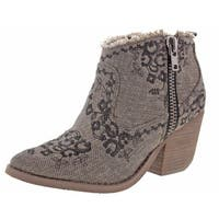 Naughty Monkey Sewn Up Women's Canvas Booties Boots