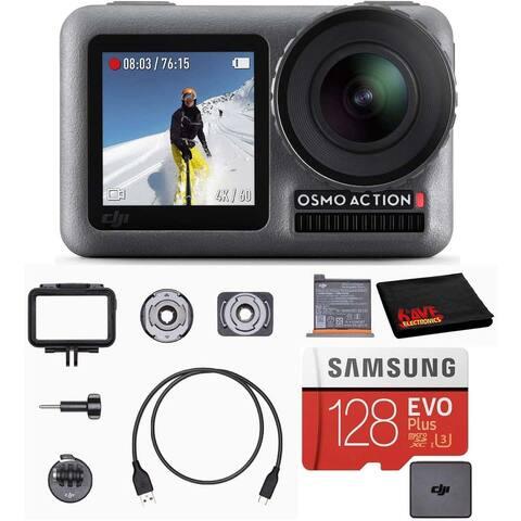 DJI Osmo Action Cam Digital Camera Bundle Waterproof 4K HDR + 128GB