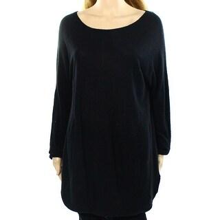 INC NEW Black Women's Size XL High Low Dolman Sleeve Boat Neck Sweater