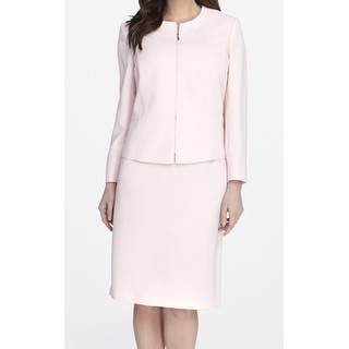 Tahari By ASL NEW Pink Pearl Women's Size 20W Plus Skirt Suit Set