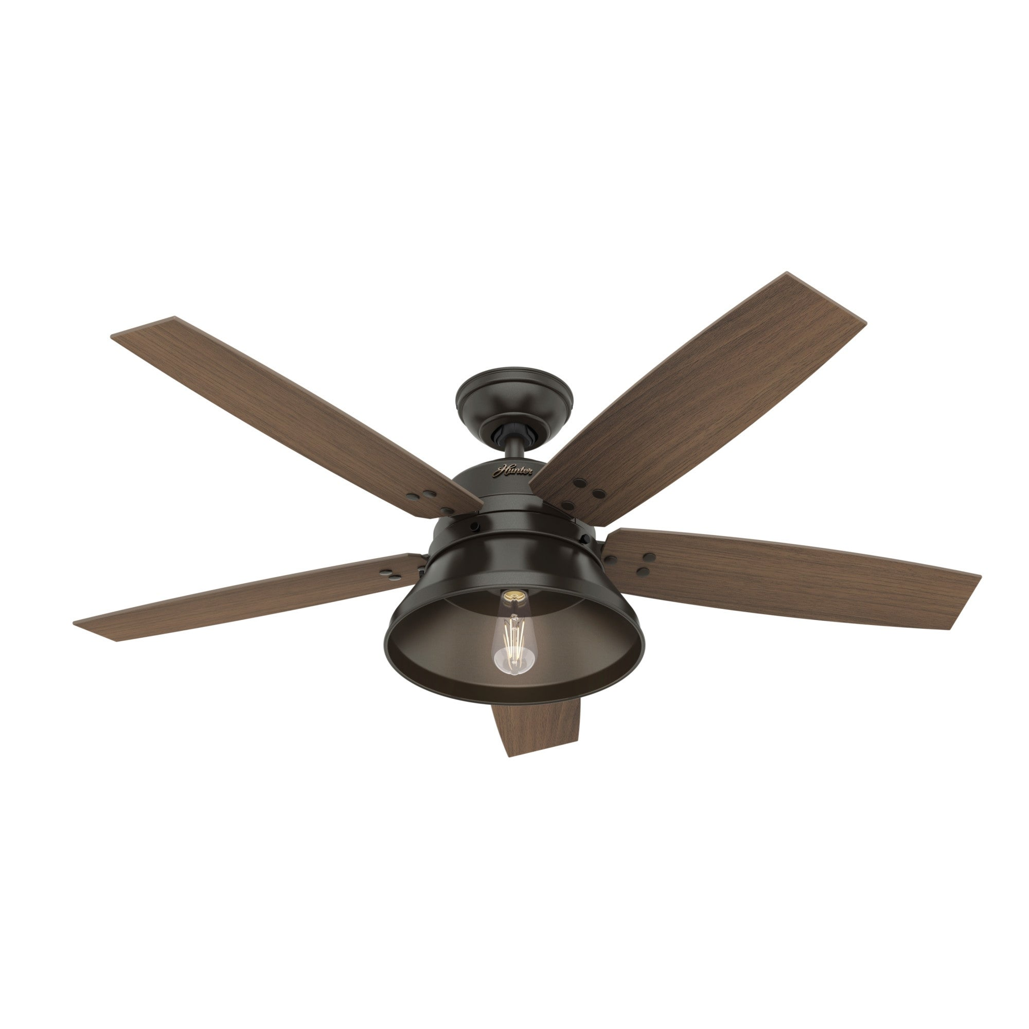 Hunter 52 Beech Hollow Outdoor Ceiling Fan With Led Light Kit And Handheld Remote Damp Rated Noble Bronze Overstock 30732879