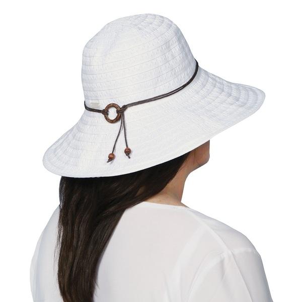 Women's Wide Brimmed Sun Hat - Coconut Ring Safari Hat
