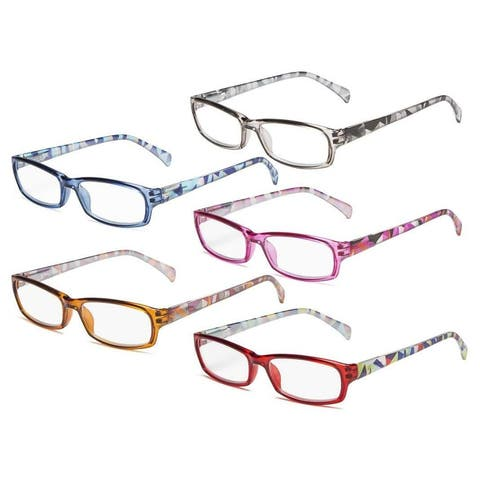 4564eb702 Eyekepper 5pcs Ladies Reading Glasses Spring Hinge Pattern Design