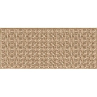 707500037 Water Guard Stained Glass Mat in Camel - 3 ft. x 7 ft.