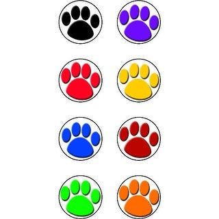 Colorful Paw Prints Mini Stickers