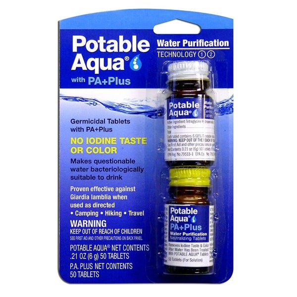 Potable Aqua Water Purification Germicidal Tablets With PA Plus