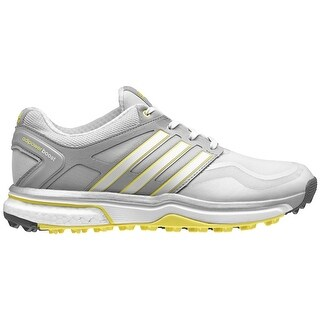 Adidas Women's Adipower Sport Boost Clear Grey/White/Light Yellow Golf Shoes Q47019