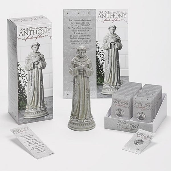 Club Pack of 31 Saint Anthony Patron Saint of Lost Articles Table Top Figurine