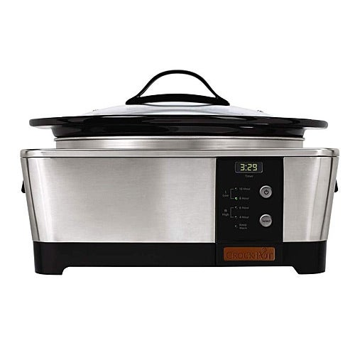 Crock Pot SCCPTP600-S 6 Quart Stainless Steel Oval Slow Cooker - Stainless Steel