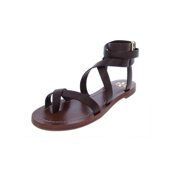 e32377f07 Tory Burch Womens Patos Flat Sandals Leather Strappy - 5.5 Medium (B