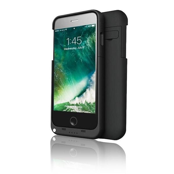 Indigi® High Capacity Rechargeable External Smart Battery Case for iPhone 7 Plus - 4000mAh - Matte Black