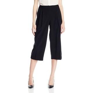 Nine West Pleated Culottes Pants Black - 6