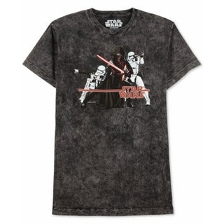 STAR WARS NEW Black Mens Size 2XL Graphic Tee Short Sleeve T-Shirt