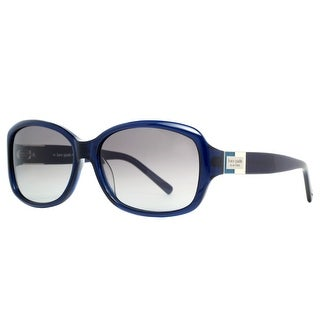 KATE SPADE Square Annika/S Women's X00/Y7 Clear Blue/Grey Gray Gradient Sunglasses - 56mm-15mm-130mm