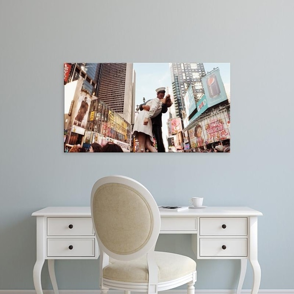 Easy Art Prints Panoramic Images's 'Sculpture in a city, V