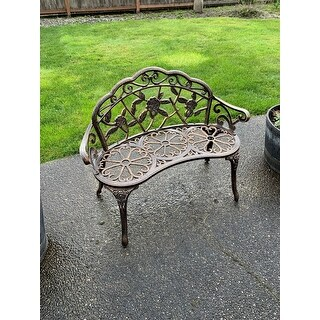 """38.5"""" Outdoor Courtyard Park Bench Indoor And Outdoor Leisure Rose Bench - N/A"""