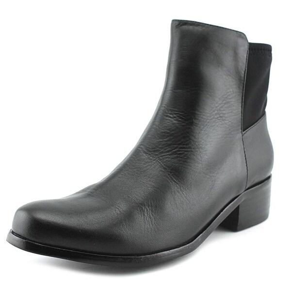AquaDiva Daisy Round Toe Leather Bootie