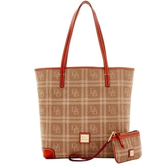 Dooney & Bourke DB Plaid Jacquard Everyday Tote with Wristlet (Introduced by Dooney & Bourke at $248 in Jul 2016) - Tan