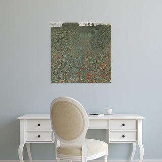 Easy Art Prints Gustav Klimt's 'Mohnwiese' Premium Canvas Art