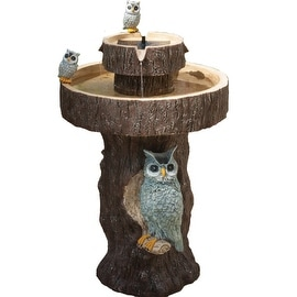 Owl 2-Tier Solar-on-Demand Fountain