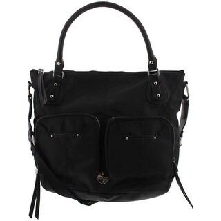 Franco Sarto Womens Natalia Crossbody Handbag Faux Leather Satchel - LARGE