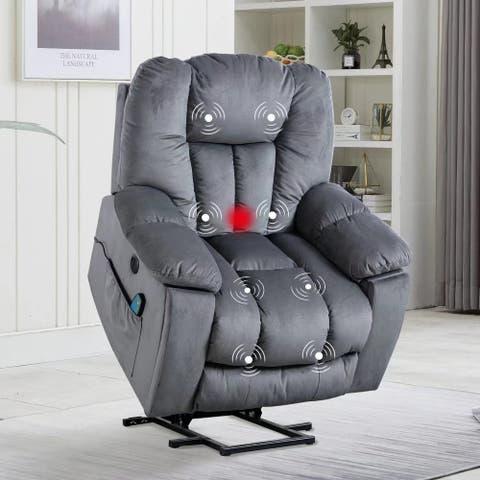 Elderly Power Assist Lift Recliner chair With Massage Chair
