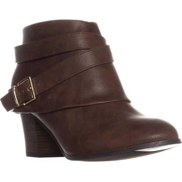 TS35 Teca Cuffed Ankle Boots, Brown