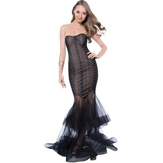 Terani Couture Fitted Prom Trumpet Dress