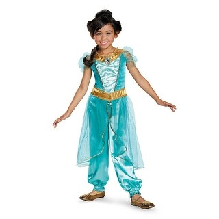 Girls Deluxe Jasmine Disney Princess Costume