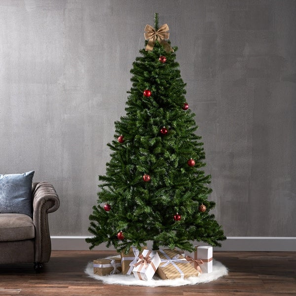 7-foot Noble Fir Pre-Lit String Light or Unlit Hinged Artificial Christmas Tree by Christopher Knight Home