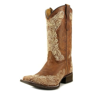 Corral E1141 Youth Square Toe Leather Brown Western Boot