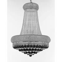 French Empire Crystal Chandelier Silver 15 Lights