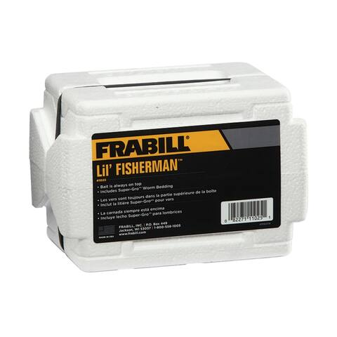 Frabill 0341-0111 Lil' Fisherman Worm Tote with Super-Gro Worm Bedding